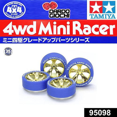 Cerchi Oro più gomme azzurre 30° anniversario 95098