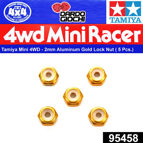 2mm Aluminium Lock Nut (Gold, 5pcs.) ITEM 95458