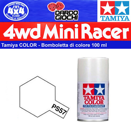 Tamiya PS-57  Colore spray Pearl White 100ml per policarbonato