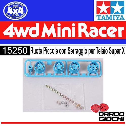 RUOTE PICCOLE CON SERRAGGIO PER TELAIO SUPER X ITEM 15250