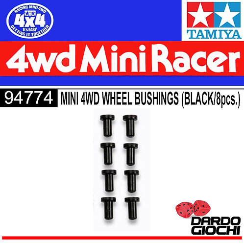 MINI 4WD WHEEL BUSHINGS (BLACK) ITEM 94774