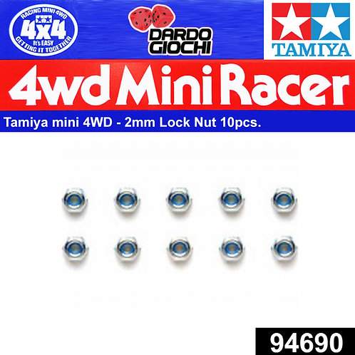 Mini 4WD 2mm Lock Nut (10pcs.) ITEM 94690