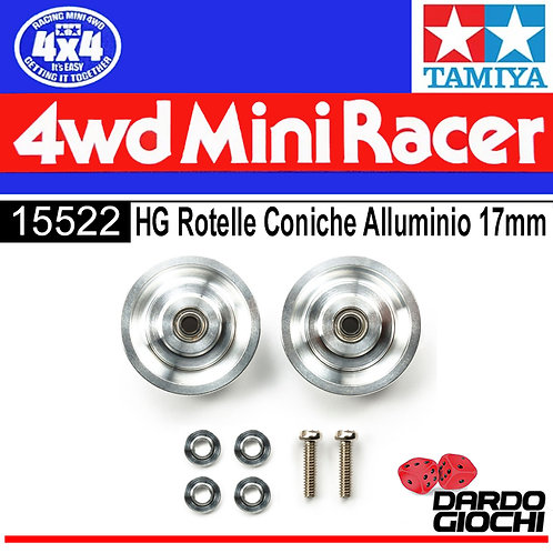 HG 17mm Aluminum Ball-Race Rollers (Ringless) ITEM 15522