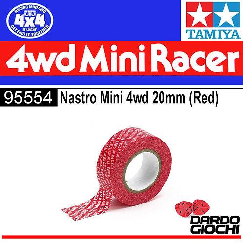MINI 4WD Multipurpose Tape (20mm Width/Red) ITEM 95554