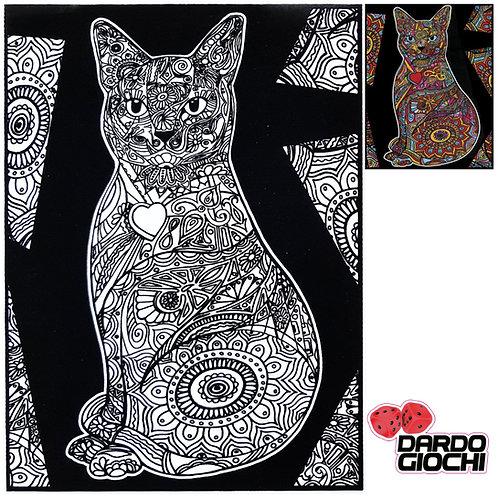 MANDALA PEPPER CAT 47X35cm L96 (12 colori in omaggio)