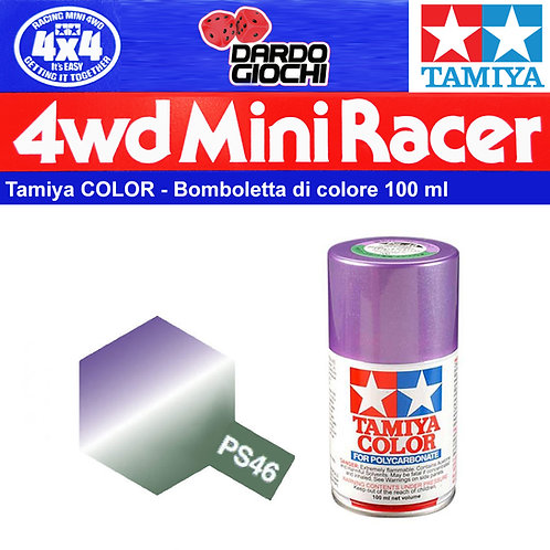 Tamiya PS-46  Colore spray Iridescent Purple/Green 100ml Policarbonato