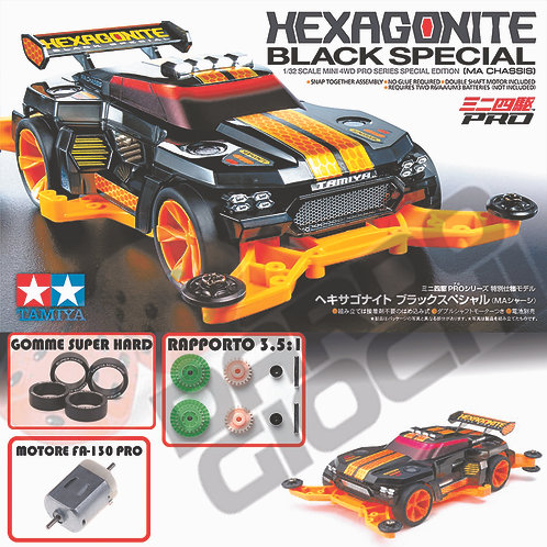 MINI 4WD HEXAGONITE  Black Special SP (MA Chassis) ITEM 95565