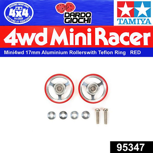 17mm Aluminium Rollers w/Plastic Rings (Red)  ITEM 95347