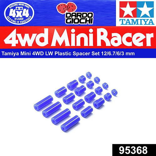 Lightweight Plastic Spacer Set ( 12/6.7/6/3/1.5mm )(Blue) ITEM 95368