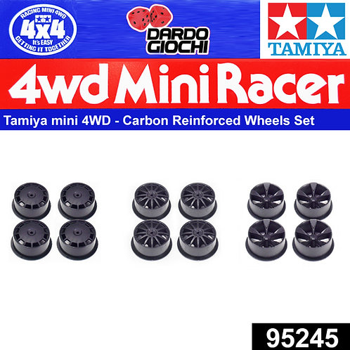 MINI 4WD Carbon Reinforced Wheel Set (Low Profile) ITEM 95245
