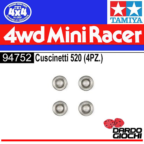 Mini 4WD 520 Ball Bearing (4pcs) ITEM 94752
