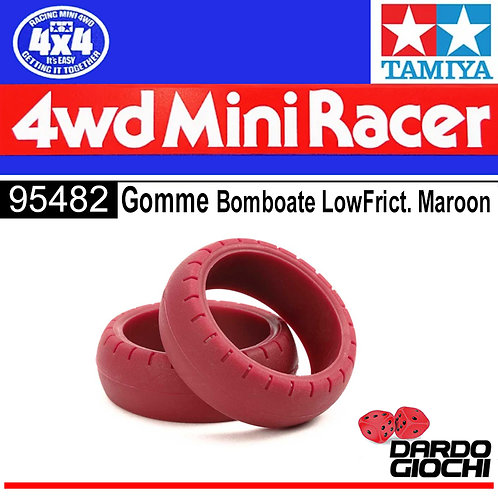 Low Friction Large Dia. Arched Tires (Maroon, 2pcs) ITEM 95482