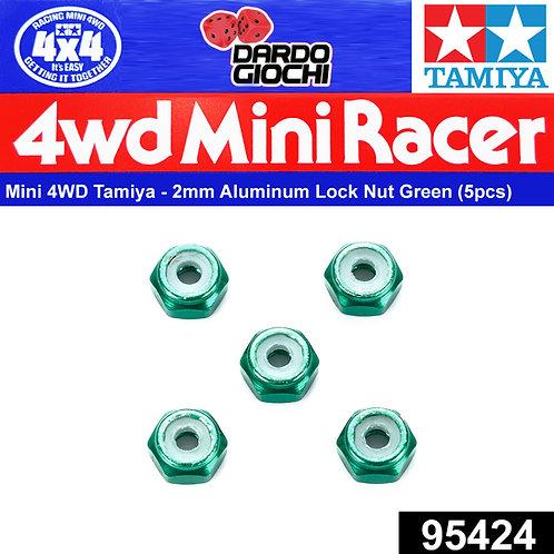 2mm Aluminum Lock Nut (green, 5pcs) ITEM 95424