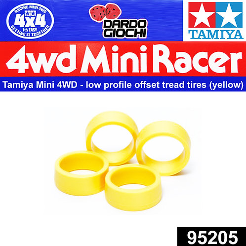LOW-PROFILE OFFSET TREAD TIRES (HARD/YELLOW) ITEM 95205