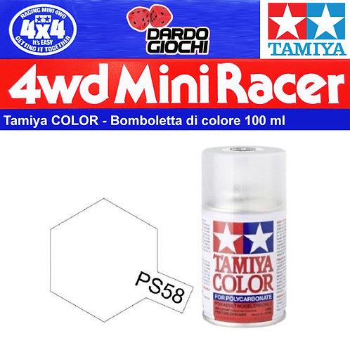 Tamiya PS-58 Colore spray Pearl Clear 100ml per policarbonato