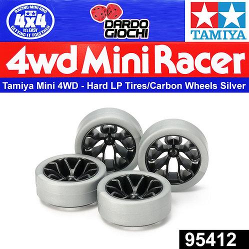 HardLow-Profile Tire (Silver)& Carbon Wheel Set (Y Spoke) ITEM 95412