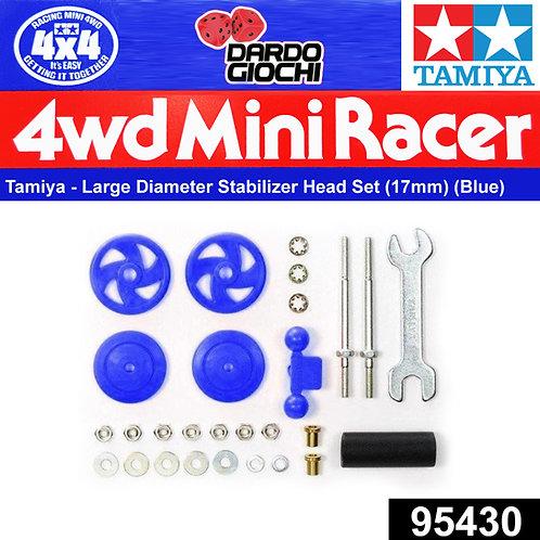 Large Dia Stabilizer Head Set (17mm) (Blue) ITEM 95430