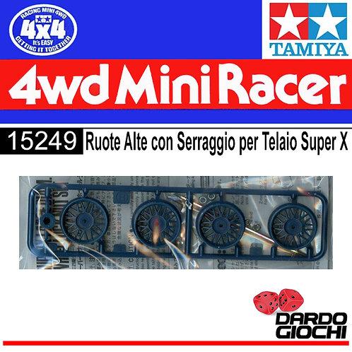 RUOTE ALTE CON SERRAGGIO PER TELAIO SUPER X ITEM 15249