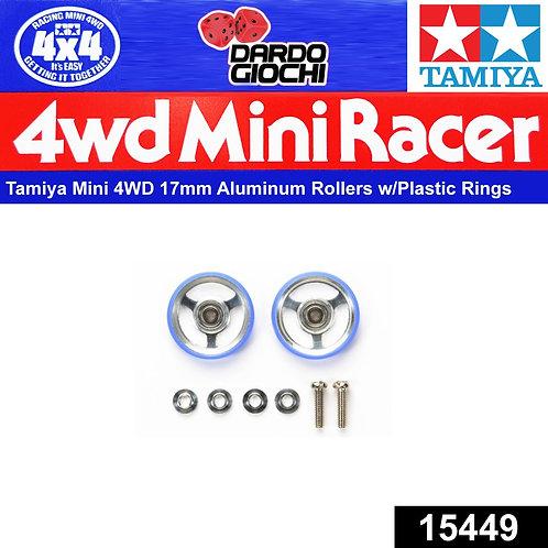 17mm Aluminium Rollers w/Plastic Rings ITEM 15449