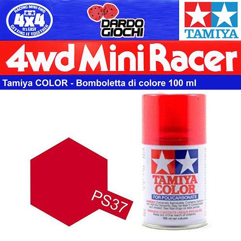PS-37 Spray Tamiya Polycarbonate Traslucent Red (100ml)