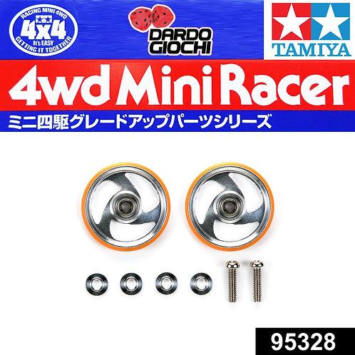 19mm Aluminum Rollers w/Plastic Rings (Orange) ITEM 95328