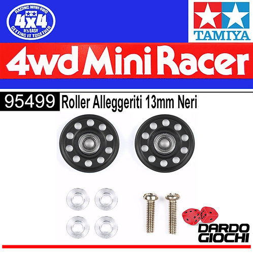 13mm Rollers alleggeriti neri ITEM 95499