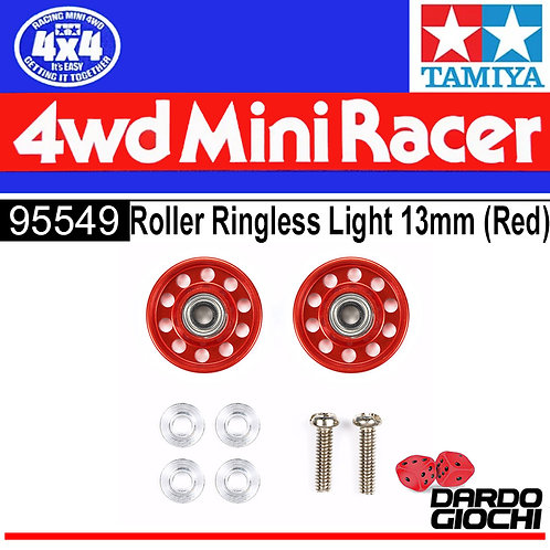 Lightweight 13mm Aluminum Ball-Race Rollers (Ringless/RED) ITEM 95549