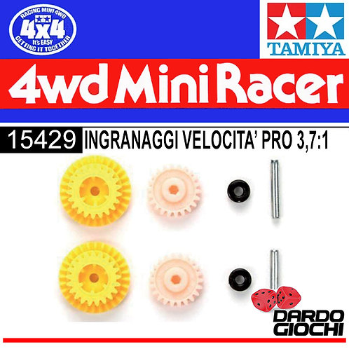 Mini 4WD PRO High Speed EX Gear Set (for MS Chassis/Gear Ratio 3.7:1) ITEM 15429