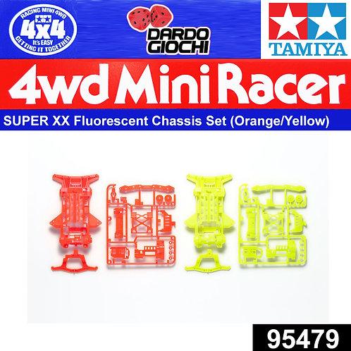 SUPER XX Fluorescent-Color Chassis Set (Orange/Yellow) ITEM 95479