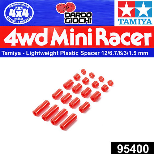 Lightweight Plastic Spacer Set ( 12/6.7/6/3/1.5mm )(Red)  ITEM 95400