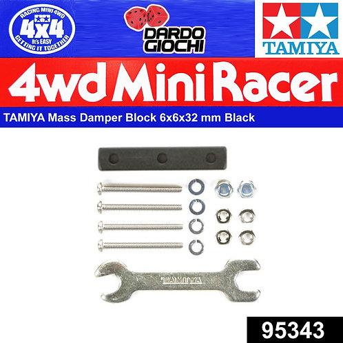 Mass Damper Block (6x6x32mm/Black ) ITEM 95343