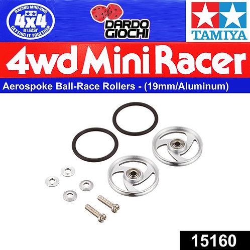 19mm Aluminum Ball-Race Rollers (Aereo-Spoke Type ) ITEM 15160