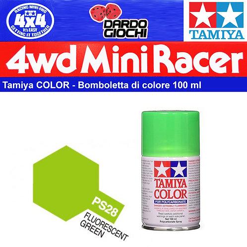 TAMIYA 100ml PS-28 policarbonato verde fluorescente vernice spray