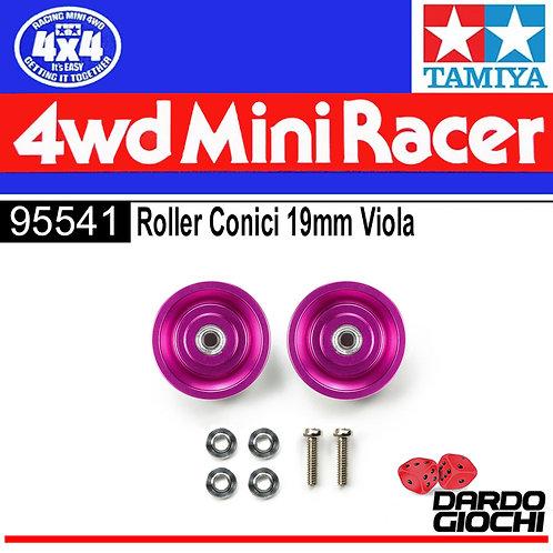 HG 19mm Tapered Aluminum Ball-Rollers (Ringless/Purple) ITEM 95541