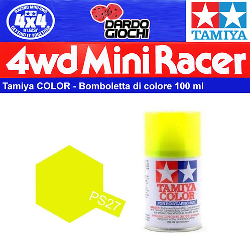 Spray Tamiya Policarbonato Lexan PS-27 Giallo Fluorescente