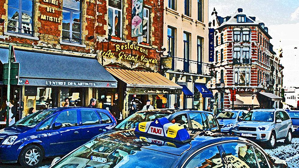 Fritz (Steven) Weiss - Brussels Street Scene #104