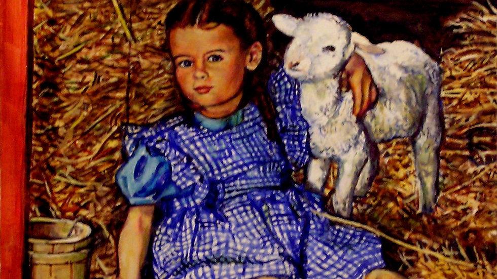 David Vigon - Girl with Lamb