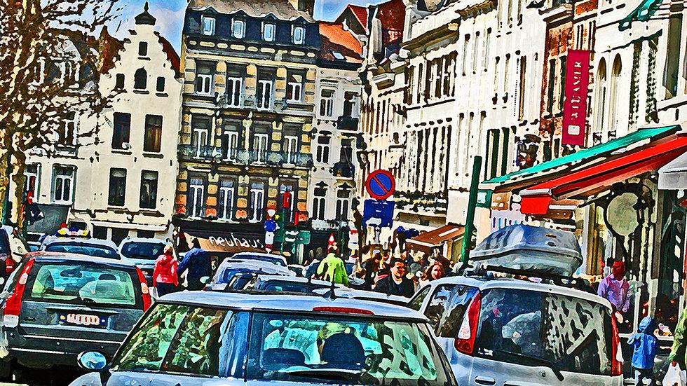 Fritz (Steven) Weiss - Brussels Street Scene #86