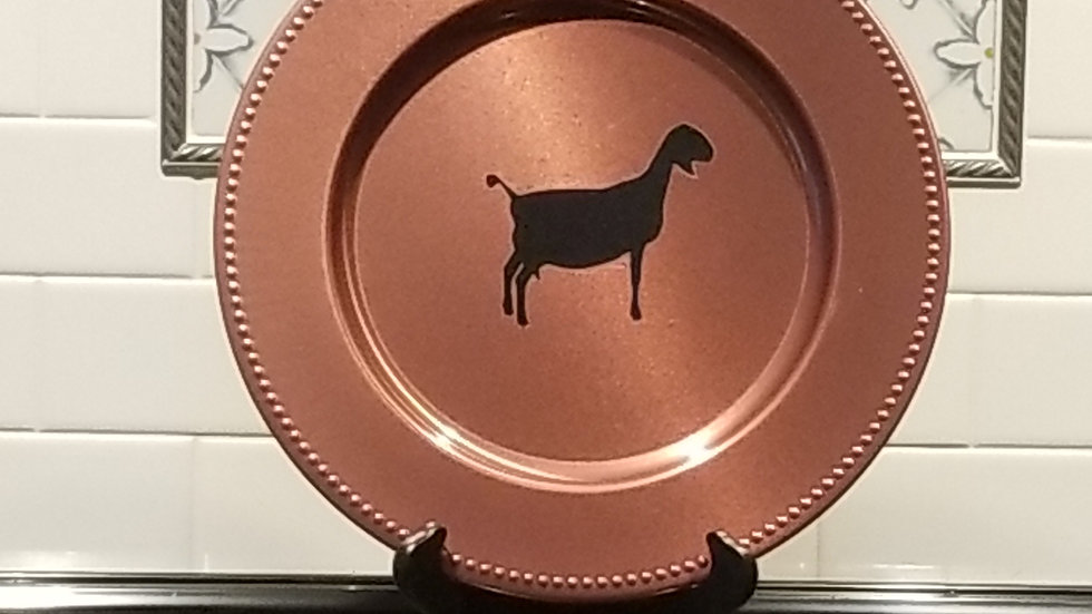 Copper Colored Mini Nubian Plate Charger