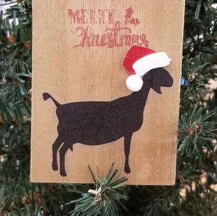 Goat Christmas Tree Ornaments for Sale