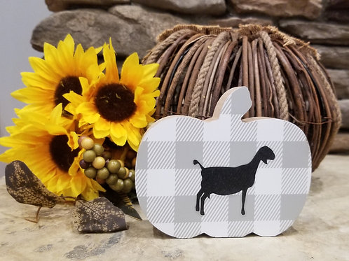 Goat and Fall Pumpkin Decoration for your farm
