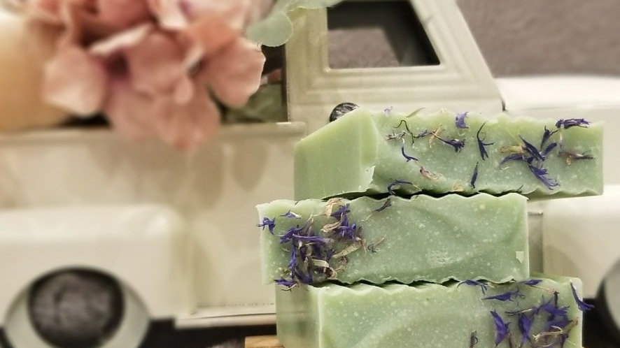 Cotton Bean's Lemon Verbena Cookie goat milk soap