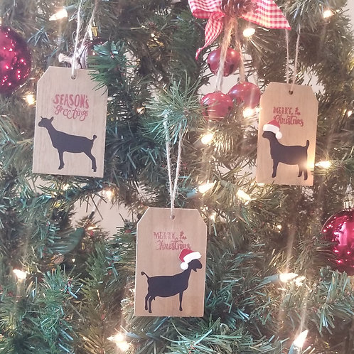 Boer Goat Wooden Christmas Tree Ornament or Present