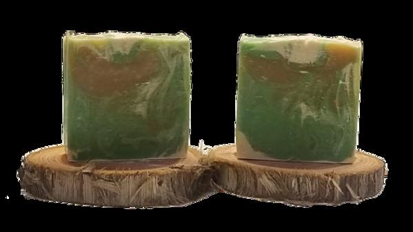 "Nutty Boer's ""Coconut Lime"" goat milk soap"
