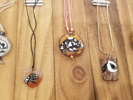 Mini Nubian goat hand painted necklaces - Just In!