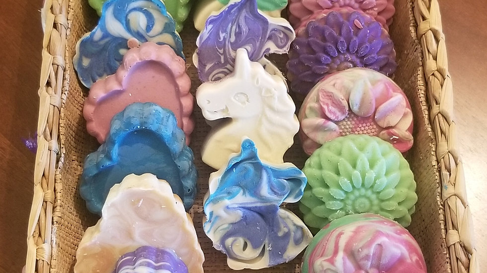 Gat Milk Soap for Kids available in hearts, unicorns and flowers
