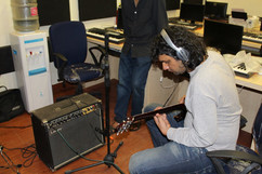 Guitar Re cording In session