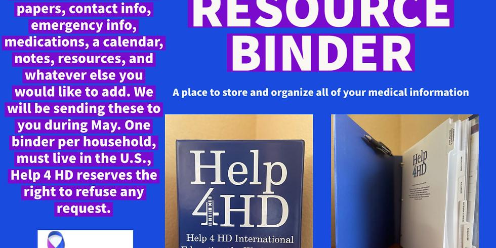 Care & Resource Binder