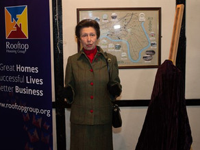 HRH The Princess Royal Officially Opens A New Affordable Housing Project In Minsterworth