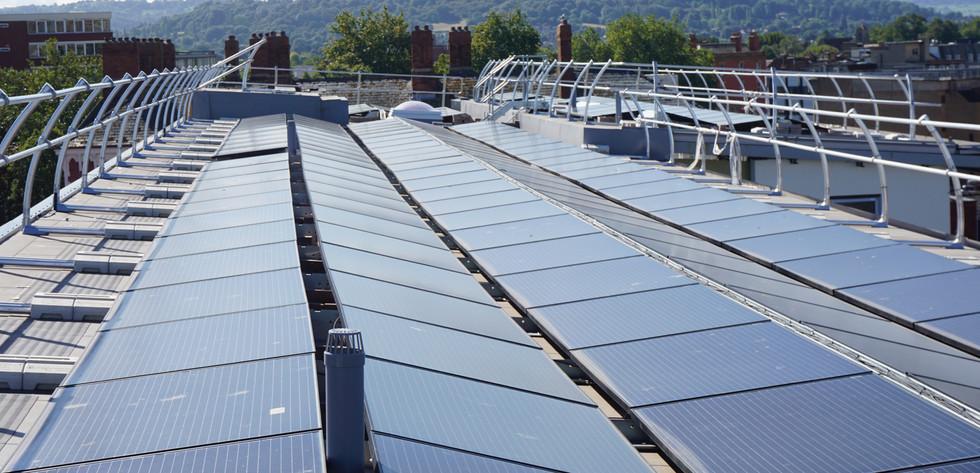 Solar Panels on Walkinshaw Court